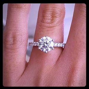 Stunning CZ Solitaire Ring